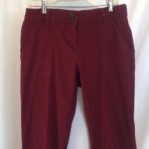 White Stag maroon pants. Size 6